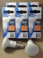 2 X Status R39 LED 3w (20w) Ses E14 Spot Reflector Bulbs Small Screw