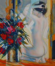 """Jean-Baptiste VALADIE : """"Nu au bouquet""""# LITHOGRAPHIE ORIGINALE SIGNEE et N°"""