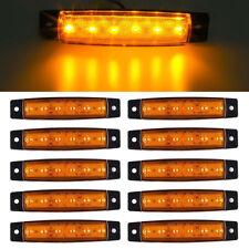 10X 12V 6 LED Truck Bus Boat Trailer Side Marker Indicators Light Lamp Amber 004