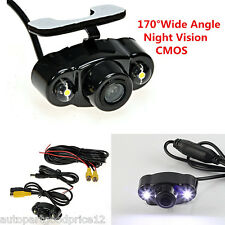 170° Wide-Angle 2 LED Night Vision Auto Car Rear View Reverse Backup Camera CMOS