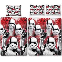 Star Wars The Last Jedi 'Trooper' Single/Double Duvet Cover Reversible Bedding