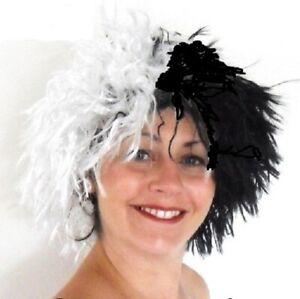 Black & White  Spiky Style Fancy Dress  Wig .UK Next Day Dispatch