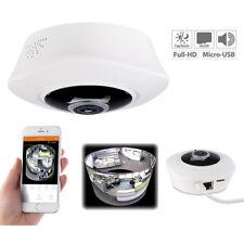 IP Camera: 360°-Panorama-IP-Überwachungskamera mit WLAN & Nachtsicht