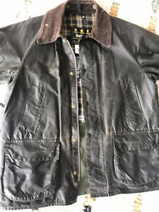 Vintage Men's Barbour Bedale Waxed Jacket Reproofed Green C40/102CM