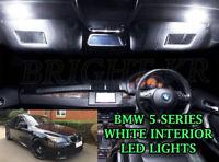 BMW 5 SERIES E60 INTERIOR LED LIGHT BULBS ERROR FREE -XENON WHITE