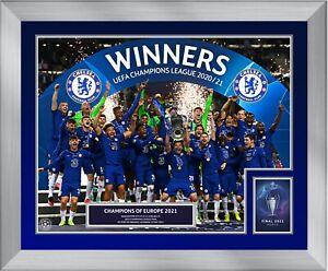 2021 Champions League Final Chelsea Winners Celebration UEFA Framed Print Range