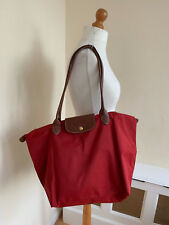 LONGCHAMP LE PLIAGE Red Nylon With Leather Fold Up Handbag