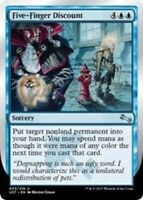 4x Five-Finger Discount MTG Unstable NM Magic Regular