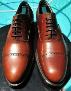 Salvatore Ferragamo man's  Lavorazione Originale brown  Leather Dress Shoe 9 D