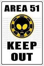 "Metal Sign Area 51 Keep Out 8"" x 12"" Aluminum NS 273"