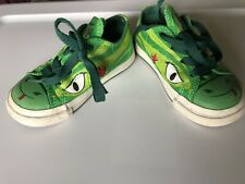 Converse One Star Green Frog/Dragon/Lizard Shoes, Toddler Size 6