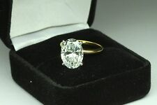 ENGAGEMENT RING WITH 5.00 CT OVAL CUT  SET IN 14K YELLOW GOLD