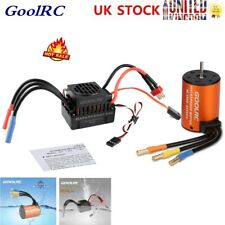 Brushless GoolRC Upgrade Waterproof 3650 4300KV Motor & 60A ESC Combo Set X6E5