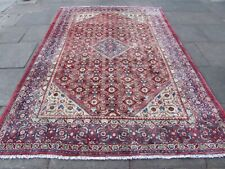 Vintage Worn Hand Made Traditional Oriental Wool Faded Red Pink Carpet 302x215m