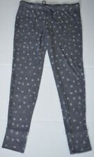 Ladies xhilaration Ebony Gray Hearts SOFT lounge pajama PANT Bottoms Raccoon M