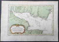 1757 Nicolas Bellin Antique Map of Río de la Plata or River Plate, Argentina