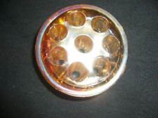 Vintage Floral Carnival Amber Glass Frog 8 Holes Domed