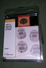 HARLEY SPORTSTER FRONT AXLE NUT COVERS 43378-04 NEW OEM NOS 1988-2007 FREE SHIPN