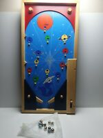"""VINTAGE  Lovely Wooden PinBall ,,Space"""" With Marble Ball"""