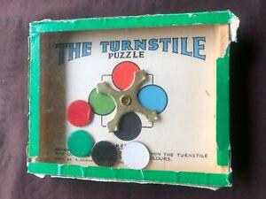 Vintage turnstile puzzle,c1950'