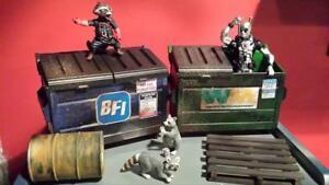 Action Figure dumpster Marvel Legends Dc Universe WWF WWE Wrestling Diorama Prop