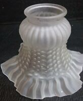 Vtg Art Deco Embossed Frosted Glass Light Shade replacement lamp shade