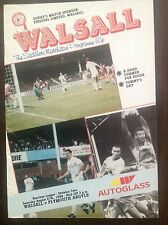 Walsall v Plymouth 1988-89 programme