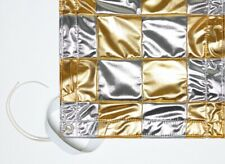 Canvas Grip 6' X 6' Silver & Gold Checkerboard - Butterfly