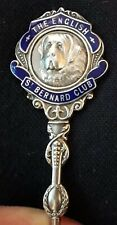 More details for the english st bernard club embossed silver spoon hallmarked birmingham 1924