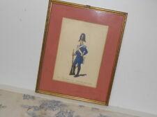 Vtg. Italian Military Museum Carabiniere 1814 Tenuta Pei Giorni Fes Framed Print