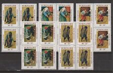Suriname 568 - 572 sheets MNH peintre pintor DUTCH PAINTER Pieter Brueghel 1971
