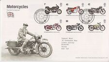 SOLIHULL PMK GB ROYAL MAIL FDC FIRST DAY COVER 2005 MOTORCYCLES STAMP SET