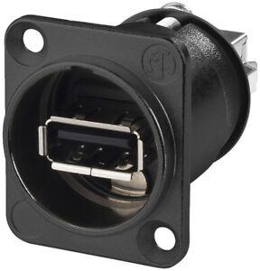 MONACOR NAUSBWB USB-Durchgangs-Einbaubuchse Components, Kabel