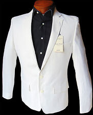 Men's MURANO White Two Button Linen Jacket Blazer Large L NWT NEW Amazing!