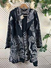 Paparazzi By Biz Black Embroidered Blazer Jacket Boho Size Small NEW Hooded
