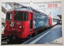 RhB Glacier-Express DFB Furka Bergstrecke BVZ A3-Farbkalender 2018 42 x 30 cm