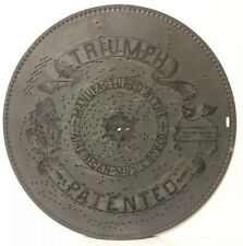 Antique Triumph Music Box Co Metal Disc 15.5 Inch• Spin, Spin, Swedish Song#2207