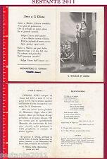 580 SANTINO HOLY CARD S. SANTA CHIARA D'ASSISI ASSISI MONASTERO