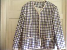 Koret sz 18W  purple/green/white plaid jacket Acrylic/Poly/Wool
