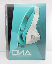 Monster DNA Noise Isolating On-Ear Headphones w/Mic & ControlTalk White/Teal NEW