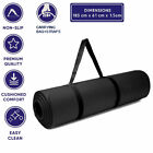 Yoga Mat 15mm Thick NBR Foam Non Slip Exercise Pilates Mats for Gym Workout