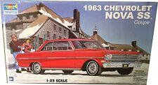 Trumpeter 1963 Chevrolet Nova SS Coupe Ref 02503 Model Kit Escala 1:25, Nuevo