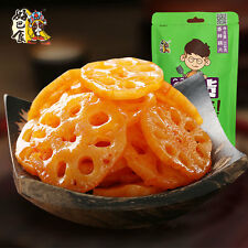 Chinese Food Snacks HaoBaShi Spicy Lotus Root Chips 258g*1bags 好巴食 香辣莲藕片 四川特色小吃