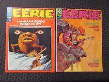 1969 EERIE Magazine #21 VF- #26 FVF LOT of 2 Gogos / Bode Cover - Warren Horror