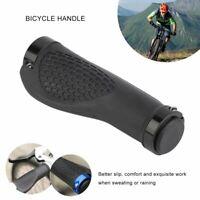 Ergonomic Rubber Mountain Bike Bicycle Handlebar Grips Cycling Lock-On Ends WP