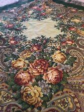 "Original Russian Wool shawl scarf Pavlovo Posad Authentic Green 35""/89cm sh399"