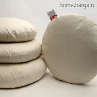 Pack of 2 Round Duck Feather Cushion Pad Insert Filler