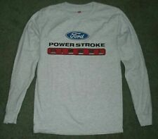 FORD POWER STROKE DIESEL MENS Long Sleeve GRAY TEE T-SHIRT small