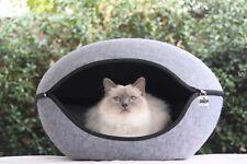 Pet Bed Pod Cat Dog Cave Grey
