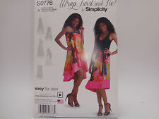 Simplicity S0776, Easy to Sew WRAP, TWIST & TIE Dress/Skirt, All Sizes